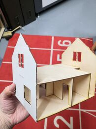 Dollhouse Irmeli, laser cut kit, 1:48