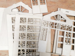 Greenhouse laser cut kit, 1:16