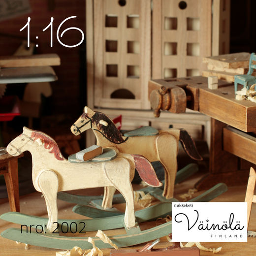Rocking horse, laser cut kit, 1:16