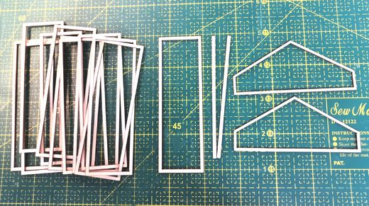 Window frames to the greenhouse 1:16