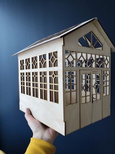 Greenhouse laser cut kit, 1:12