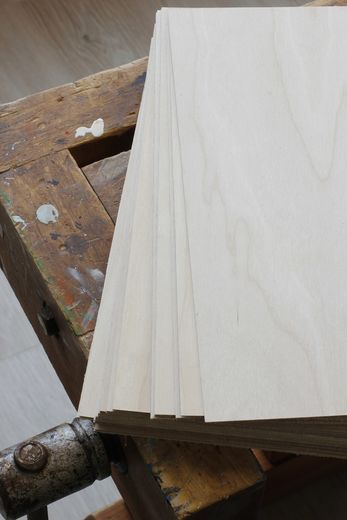 Plywood birch, 1mm