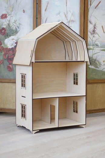Dollhouse Sigrid, laser cut kit, 1:12