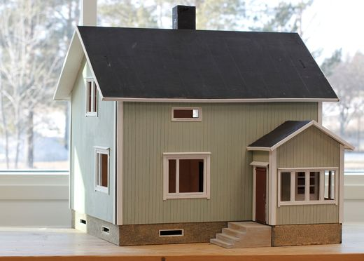 Dollhouse Irmeli, laser cut kit, 1:24